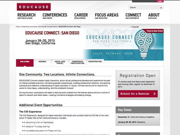 EDUCAUSE Connect Events